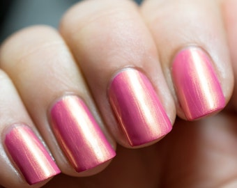Discontinued - Azazael - Pink with Gold Shimmer Nail Polish