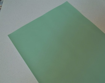 Lt. Mint GreenFaux Leather Sheet - DIY - Vinyl sheet - Hair Bows - Headbands - Hair Clips - Embroidery, Journal Covers, Jewelry, coin purses
