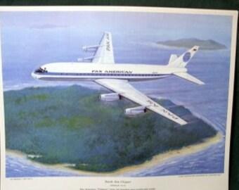 Vintage Pan Am PanAm South Sea Clipper Douglas DC 8 Jet