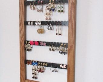 Jewelry rack Earring rack storage and organization jewelry display earring organizer