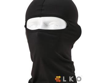 Black Balaclava Mask Under Helmet Winter Warm Army Style Neck Warmer