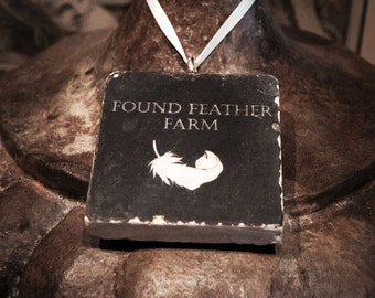 Found Feather Farm Brand Italian Tumbled Marble Ornaments