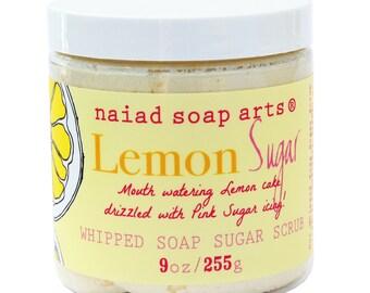 Lemon Sugar Whipped Soap Sugar Scrub