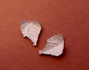 silver cast leaves grape leaves metalsmith findings UL005-2