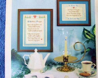 Cross Stitch Pattern - WORDS OF LOVE - Poems By Perry Tanksley - Imaginating with Marilyn Clark