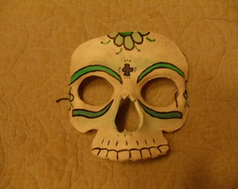 Half-faced Leather Day of the Dead Mask