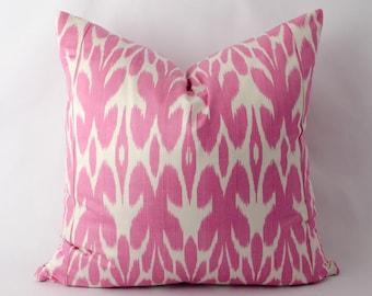 20x20 purple, ikat pillow cover, ikat cushion, accent pillow, throw pillow