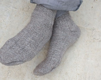 Knitted long socks high socks Boot high socks Wool knit socks boot Hand knit socks Winter knit socks Made to order