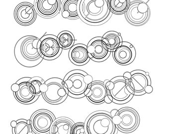 Commercial License for Font, WS Simple Gallifreyan, digitally drawn, alien, wiccked stepmother fonts, ttf font file, by melanie j cook