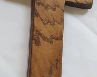 Artisan English Chestnut Stained Wood Cross