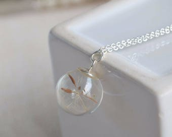 Dandelion Seed Ball Necklace