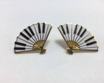 Vintage Hand Fan Earrings