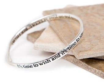 Birthday Friendship Message Bangle-Friendship Slogan Bangle- Bangle For a Love & Friendship-Silver plated Bangle