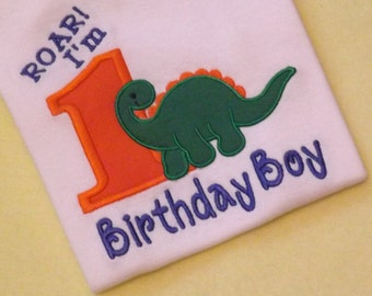 Dinosaur Birthday T-Shirt or Bodysuit