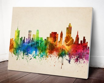 Tulsa Skyline Canvas Print, Tulsa Cityscape, Tulsa Art Print, Home Decor, Gift Idea, USOKTU05C