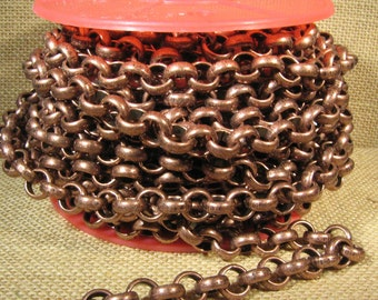 5 Feet 11mm Rolo Chain - CH115 - Antique Copper