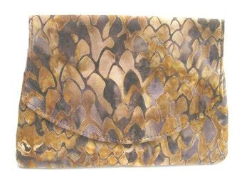 Snakeskin Patterned Batik Wallet