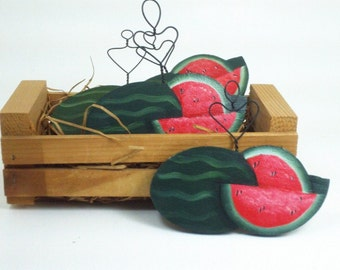 Hand Painted Watermelon Slice / Handmade Wooden Watermelon Slices /By Treasures To Share
