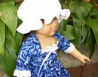 Felicity 18 inch doll .. Simple  Colonial dress with Cap  ONLY sold with Matching girls dress