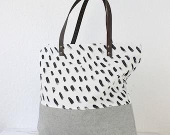 Confetti hand painted bag Messenger, ladies handbag, handbag, shoulder bag, Tote, ladies bag
