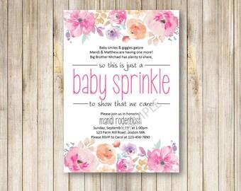 Baby Sprinkle Invitation - Custom Invitation for baby sprinkle