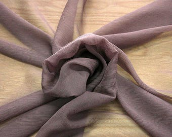 326021-natural Silk Chiffon 100%, wide 127/130 cm, made in Italy, dry cleaning, weight 29 gr, price 1 meter: 31.76 Euros