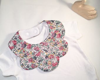 Liberty of London baby bib, Claire Aude C bib, LIberty print bib, baby present, Gift for newborn