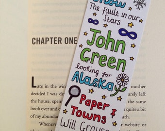HAND-DRAWN BOOKMARK // the library of john green