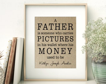 A Father Is Someone   Definition of Father print   Father's Day Birthday Gift from Children   Gift for Dad from Daughter Son