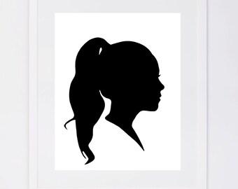 As seen in Good Housekeeping, Custom Silhouette Printable