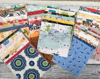 "Random cotton Prints 5"" Charm pack of 100 squares"