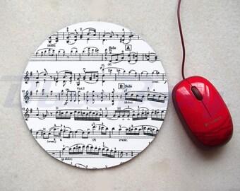 Music Note Mousepad, Office Mousepad, Computer Mouse Pad, Fabric Mousepad