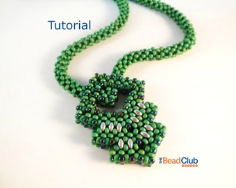 Seed Bead Necklace - Right Angle Weave - Seed Bead Patterns - Beading Tutorials and Patterns - Beadweaving Tutorial - Lucky Charm Necklace