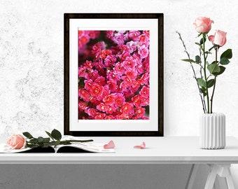 8x10, Flowers Wall Art, DIGITAL DOWNLOAD, Digital Watercolor, Springtime