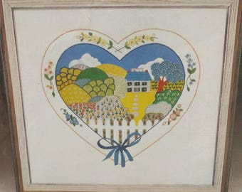 """1029 Home is where the heart is (12""""x12"""") Crewel kit"""