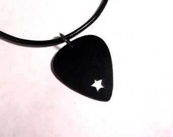 SALE - Cut Out Star V2 Plastic Guitar Pick Necklace or Pendant