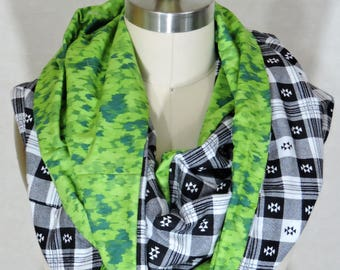 Made to Order - Green Infinity Scarf