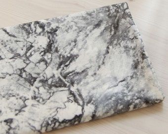 Cotton Fabric Marble Black By The Yard