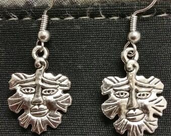Green Man earrings