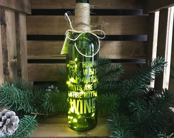 How many weight watchers points are in an entire bottle of wine? - Lighted Wine Bottle