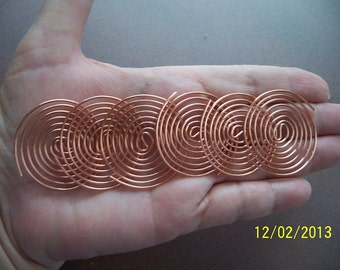 ORGONE  Making Supplies - 12 Copper Coils - 1&1/2 Inch Large SBB Coils also for Reiki Crystal Grid Work
