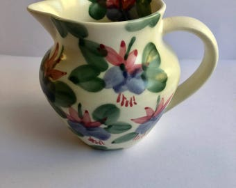 Jug by Ben Thomas with hand painted Fuschia flowers 11cms