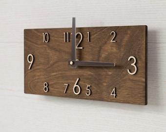 Wooden Wall Clock - Modern Wall Clock - Wood Wall Clock - Rustic Wall Clock - Modern Clock - Modern Clock Gift - Rustic Wall Decor