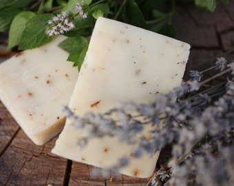 Lavender Mint Soap - made with honey and beeswax