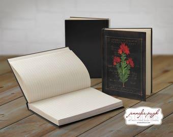 Flowers E 5x7 Hardback Bound Journal -Inspirational, Word Art
