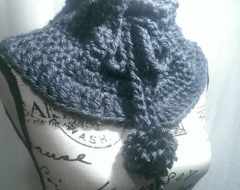 Grey Cowl, Neck warmer, Infinity scarf