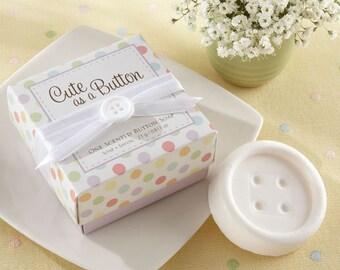Cute As A Button Scented Soap Baby Shower Favors