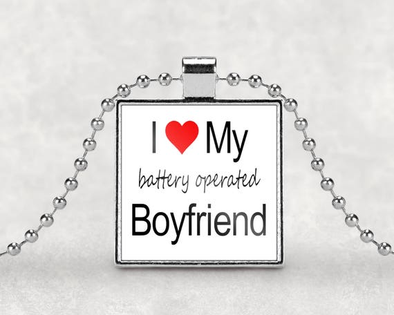 Battery operated boyfriend necklace