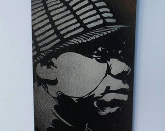 Krs1 stencil painting by STENZSKULL