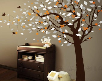 Cherry Blossom tree wall decal -Nature,Flower, Birds wall decals wall sticker ,wall decor